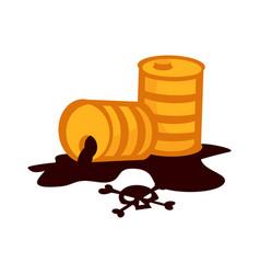 oil drum container liquid cask storage rows of vector image