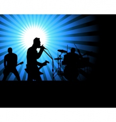 rock group vector image vector image