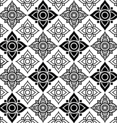 Seameless Thai pattern with tradional flower shape vector image vector image