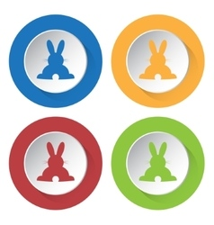 set of four icons - back Easter bunny vector image vector image