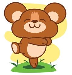 Bear Happy vector image