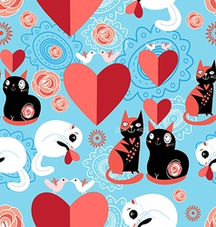 cats lovers vector image vector image