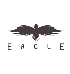abstract design template of bird eagle vector image