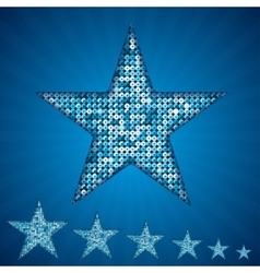 blue star with elements of sequins vector image vector image