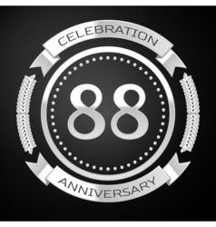 Eighty eight years anniversary celebration with vector image vector image