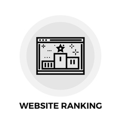 Website Ranking Line Icon vector image