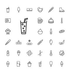33 cold icons vector