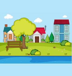 A simple rural village vector