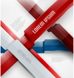Abstract business modern ribbon background vector image