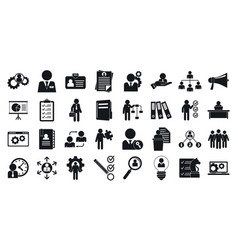 Administrator icons set simple style vector