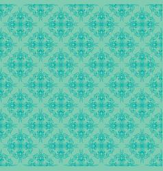 Aqua seamless damask pattern background vector