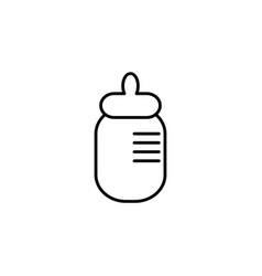 baby milk bottle flat icon vector image