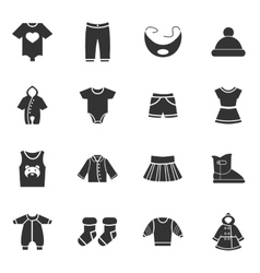 Baclothes icons set vector