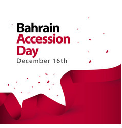 Bahrain accession day template design vector