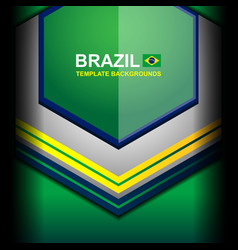 Banner brazil color geometric backgrounds vector