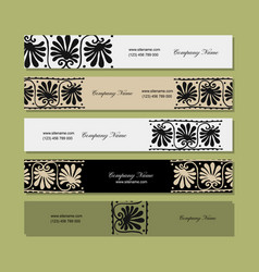 Banners design ethnic floral ornament vector