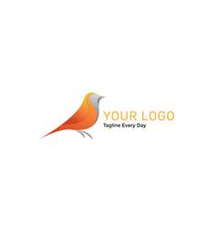 Bird logo design template vector
