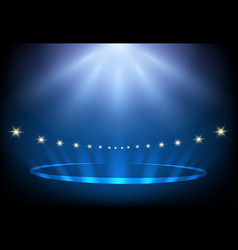 Blue stage lighting vector