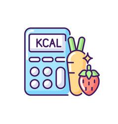 Calories rgb color icon vector