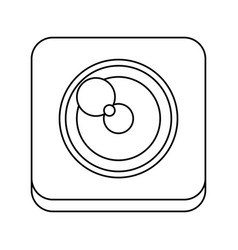 Camera shutter symbol vector