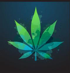 Cannabis leaf silhouette vector