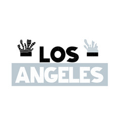 Card with lettering los angeles vector