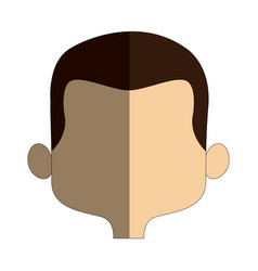 Cartoon man face avatar character male cute vector