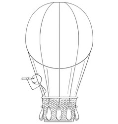 Cartoon of man or businessman in hot air ballon vector