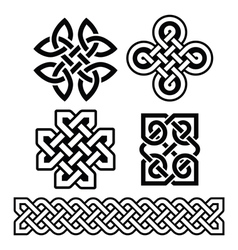 Celtic Irish patterns and braids vector image