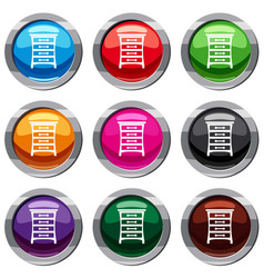 chest of drawers set 9 collection vector image