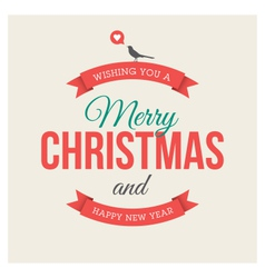 Christmas card label vector