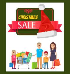 Christmas sale promo banner vector