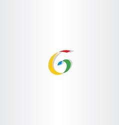 colorful letter g spiral sign logo vector image