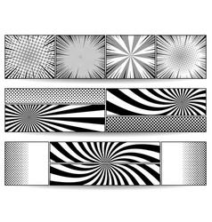 Comic monochrome horizontal banners vector