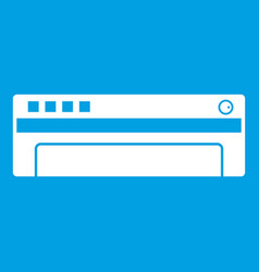 Conditioner icon white vector