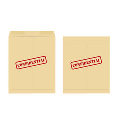 Confidential envelope vector image
