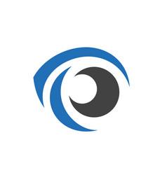 Cool eye logo icon vector