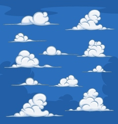 Daytime cartoon clouds vector