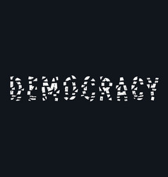 Destroyed democracy 001 vector