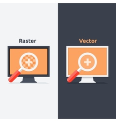 Difference between and raster format vector
