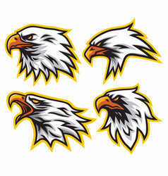 Eagle logo set collection design mascot vector