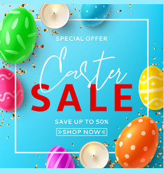 easter sale banner card vector image