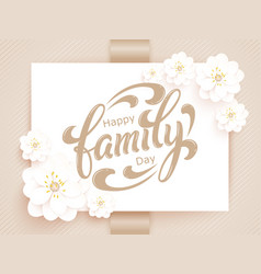 elegant happy family day card vector image