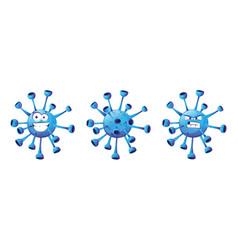 emoticon coronavirus bacteria isolated covid19 vector image