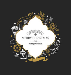 festive merry christmas poster vector image