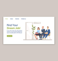 find your dream job landing page template vector image