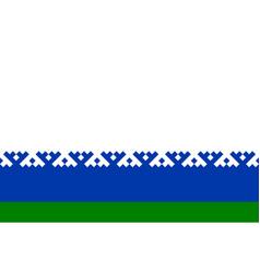 Flag nenets autonomous okrug in russian vector