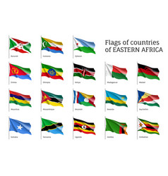 flags of eastern african states vector image