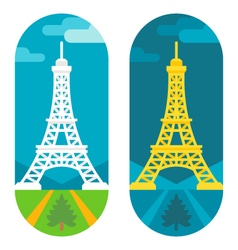Flat design Eiffel tower vector