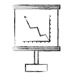 Flipchart with cartesian plane vector